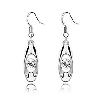 EUR € 9.74   Fashionable Crystal and Platinum Plated Alloy Earrings