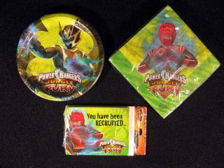 Power Rangers Jungle Fury Birthday Party Supplies Plates Napkins