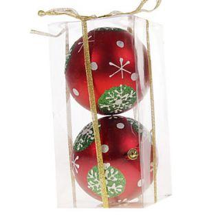EUR € 5.97   adornos de navidad rojo bolas de pvc (2 piezas