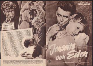 James Dean East of Eden German Movie Program