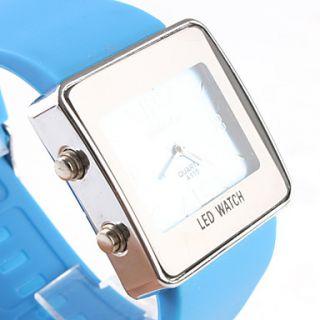 moda menina mulheres relógio de pulso pulseira azul mostrador azul