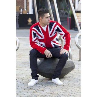 Designer Union Jack V Necked Jumper Diamond Jubilee Olympics