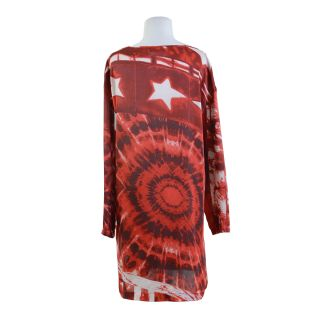 Just Cavalli Red Long Sleeve Tunic Dress US M EU 42