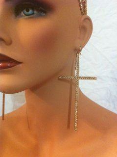 Love Hip Hop K Michelle Inspired Oversized Cross Earrings