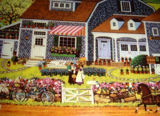 Charles Wysocki Days to Remember June Prairie Wind Flowers Folk Art