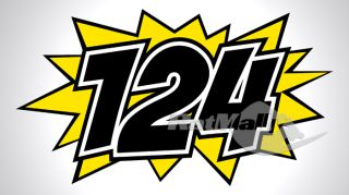 Kaboom Race Numbers Ratmally Decals Stickers Graphics