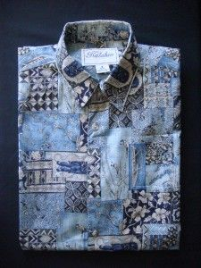 Kalaheo Aloha Shirt Small Hawaiian Print 100 Cotton Lawn