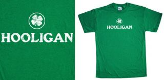 Hooligan T Shirt Irish Ireland Boondock Saints Clover Celtics Green