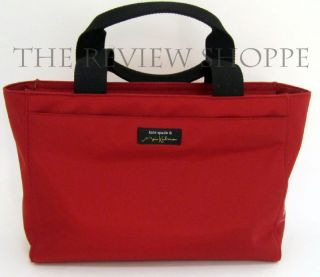 Kate Spade Maira Kalman Darling Dog Nylon Bag Red