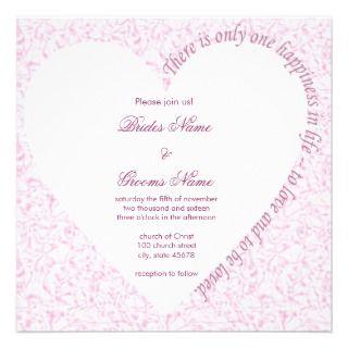 Love Quote Wedding Invitation