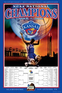 Kansas Jayhawks Basketball 2008 NCAA NATIONAL CHAMPIONS Commemorative