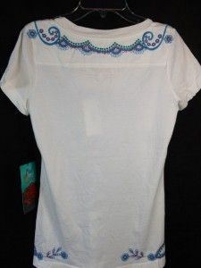 JW LA Joy Love and Light Los Angeles Brand Embroidered Shirt, Size