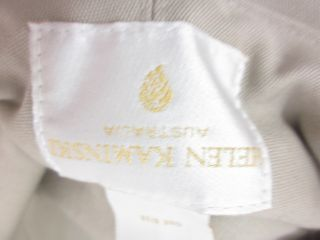 Helen Kaminski Khaki Cotton Bucket Hat Sz One Size