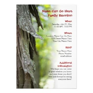 invitation for your family reunion this picturesque rustic invitation