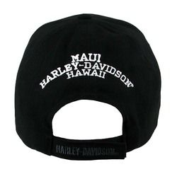 New Maui Harley Davidson Tribal Stone Black Hat