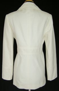 ANN TAYLOR Ivory Off White Trench Coat Jacket S NEW NWOT Winter Fall