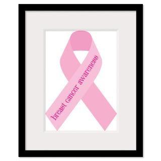Breast Cancer Ribbon Framed Prints  Breast Cancer Ribbon Framed