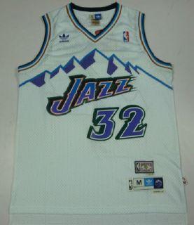 Utah Jazz Karl Malone Throwback White Home Swingman Soul Jersey