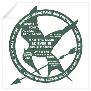 Wall Art  Wall Decals  Hunger Games Quotes Wall Art