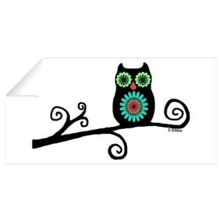 Wall Art  Wall Decals  Retro Owl Wall Decal