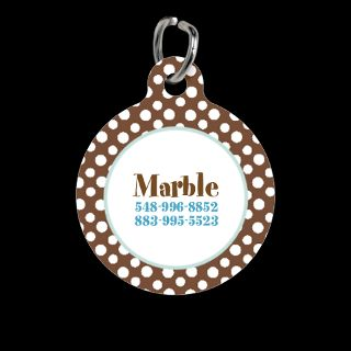 Cat Gifts  Cat Pet Tags  Polka Dots Boutique Chocolate Pet Tag