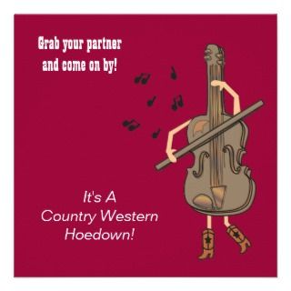 Country Western Birthday Invitation