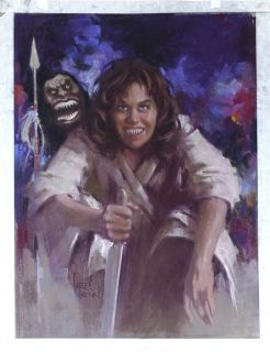 Harley Brown Original Published Art Karen Black Filmfax Cover 89 2002