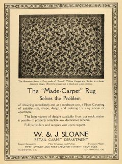 1918 Ad Made Carpet Rug w J Sloane Karnak Wilton Original Advertising