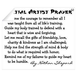 Wall Art  Wall Decals  Karate Prayer Poem Wall