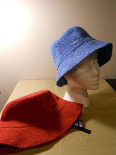 NWT 2 PAK ~ KANGOL BERMUDA SPEY BLUE&RED BUCKET HATS BOTH SIZE SM RV