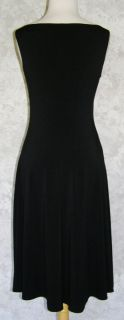Maggy London Black Stretch Jersey Tank Dress 4 with Beaded Medallion