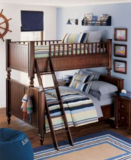 Pottery Barn Kids Boy Kasey Quilt Bedding Navy Full Queen 2 Standard