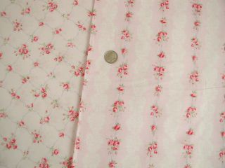 Antique French Pink Roses Kates Vintage Trellis yd Shabby Pink Chic