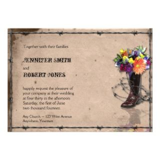 Country Western Barbed Wire Invitation v2