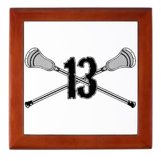 lacrosse number 13 keepsake box