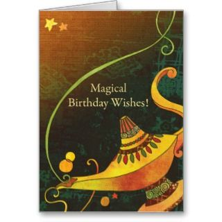 Genies Lamp Birthday Wishes Cards