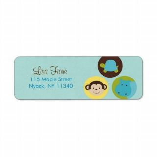 Dot Safari Jungle Animal Address Labels