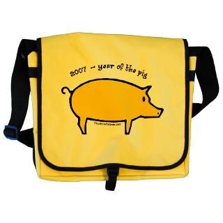 2007 Gifts  Year of the Pig   English Messenger Bag