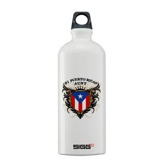 Number One Puerto Rican Aunt Sigg Water Bottle for $30.00