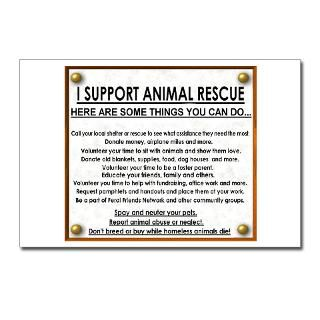 support animal rescuePostcards (Package of 8)  Slogans of Love