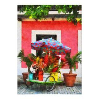 Flower Cart San Juan, Puerto Rico Invitations