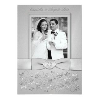 Invitación del aniversario de bodas de plata con l de