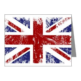 Bird Note Cards  British Flag Punk Grunge Note Cards (Pk of 10