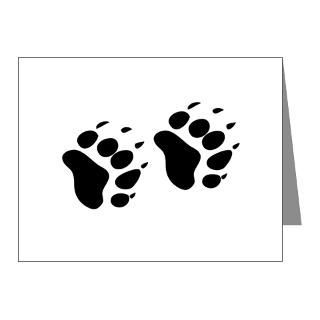 Gifts  Animal Note Cards  Bear Paw Print Note Cards (Pk of 10