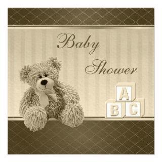 Building Blocks Baby Shower Invitiations (Blue) Announcement