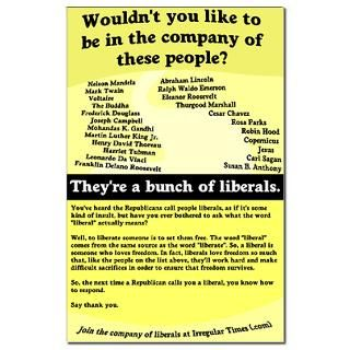 The Company of Liberals 11x17 Poster  Proud Liberal Bumper Stickers