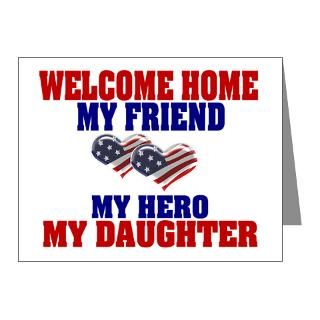 Air Force Note Cards  my daughter welcome home Note Cards (Pk of 20