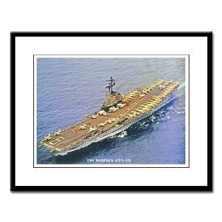 Framed Prin  USS HANCOCK (CVA 19)SORE  USS HANCOCK (CVA 19)SORE