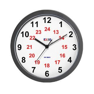 24 Hour Gifts  24 Hour Home Decor  Wall Clock   24 Hour   Large