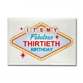 30 Gifts  30 Magnets  Las Vegas Birthday 30 Rectangle Magnet